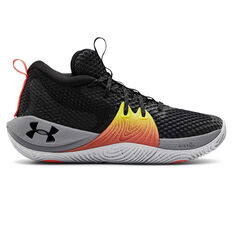 Under Armour Embiid 1 Kids Basketball Shoes Black US 4, Black, rebel_hi-res