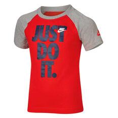 Nike Boys Sportswear Just Do It Raglan Tee Red 4, Red, rebel_hi-res