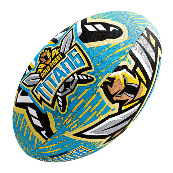 Steeden NRL Gold Coast Titans 11in Supporter Rugby League Bal, , rebel_hi-res