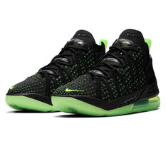 Nike LeBron XVIII Mens Basketball Shoes, Black, rebel_hi-res