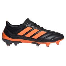 adidas Copa 20.1 Football Boots Black/Orange US Mens 7 / Womens 8, Black/Orange, rebel_hi-res