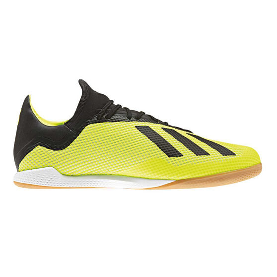 adidas X Tango 18.3 Mens Indoor Soccer Shoes, Yellow / Black, rebel_hi-res