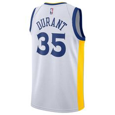 Nike Golden State Warriors Kevin Durant 2019 Mens Swingman Jersey White S, White, rebel_hi-res