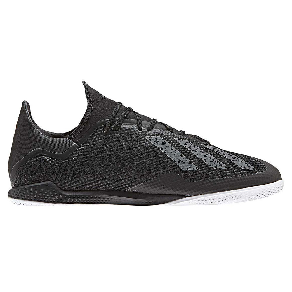 quality design eb78b 05ffb adidas X 18.3 Mens Indoor Soccer Shoes Black / White US 7