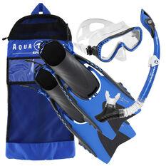 Aqua Lung Sport Adult Compass Snorkel Set Blue S / M, Blue, rebel_hi-res