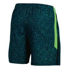 Under Armour Mens Launch 7in Printed Shorts Blue XS Adult, Blue, rebel_hi-res