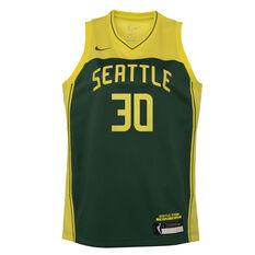 Nike Seattle Storm Breanna Stewart 2021 Kids Basketball Jersey Green S, Green, rebel_hi-res