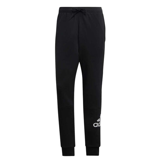 adidas Mens Must Haves French Terry Badge of Sport Pants, Black / White, rebel_hi-res