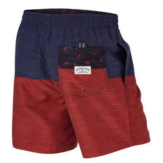 Quiksilver Mens Reverse Threads 17in Volley Board Shorts Blue S, Blue, rebel_hi-res