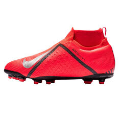 Nike Phantom Vision Elite Dynamic Fit Kids Football Boots Red / Silver US 6, Red / Silver, rebel_hi-res