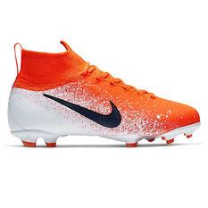 4438339bf2be6 Nike Mercurial Superfly VI Elite Kids Football Boots Red   Black US 4