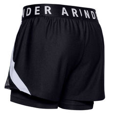 Under Armour Womens Play Up 2 In 1 Shorts Black XS, Black, rebel_hi-res