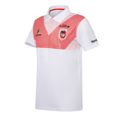 St George Illawarra Dragons 2021 Mens Heritage Polo White S White, White, rebel_hi-res