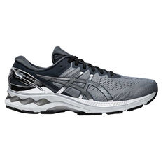 Asics GEL Kayano 27 Platinum Mens Running Shoes Grey/Silver US 8, Grey/Silver, rebel_hi-res