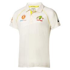Cricket Australia 2018/19 Mens Test Shirt White S, White, rebel_hi-res