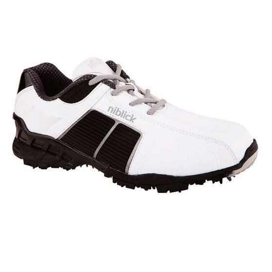 Niblick Dunes Senior Golf Shoes, White / Black, rebel_hi-res