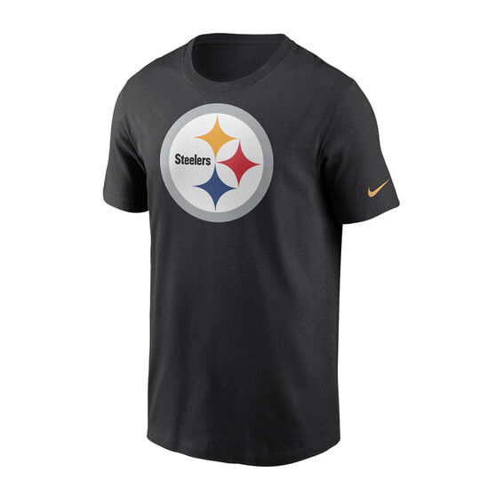 Pittsburgh Steelers 2020 Mens Logo Essential Tee, Black, rebel_hi-res