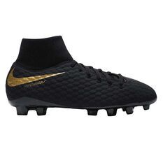 Nike Hypervenom Phantom III Academy Kids Football Boots Black / Gold US 1, Black / Gold, rebel_hi-res