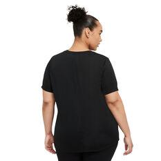 Nike Womens Dri-FIT One Standard Tee Plus Black 1X, Black, rebel_hi-res