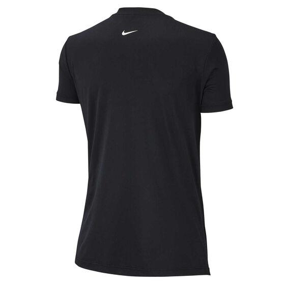 Nike Womens Dri FIT Legend Training Tee, Black, rebel_hi-res