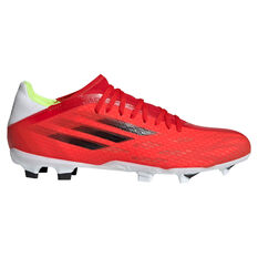 adidas X Speedflow .3 Football Boots Red/Black US Mens 4 / Womens 5, Red/Black, rebel_hi-res
