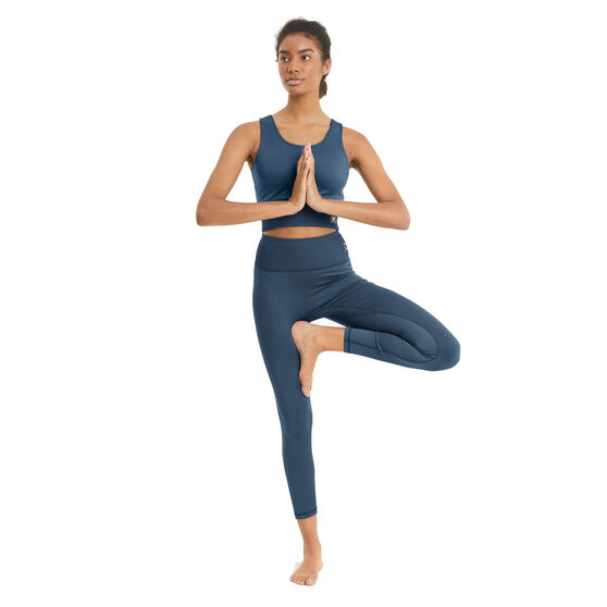 Puma Womens Exhale High Waist Training Tights, Blue, rebel_hi-res