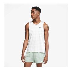 Nike Mens Dri-FIT Miler Tank, White, rebel_hi-res