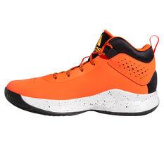 adidas Cross Em Up 5 Wide Kids Basketball Shoes Orange US 4, Orange, rebel_hi-res