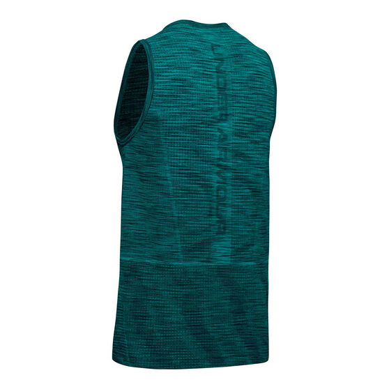 Under Armour Mens Vanish Seamless Tank Teal S, Teal, rebel_hi-res