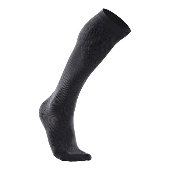 2XU Womens Performance Run Compression Socks, Black, rebel_hi-res