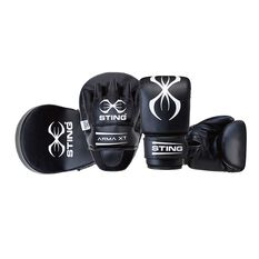 Sting Arma XT Combo Boxing Kit Black / White S / M, Black / White, rebel_hi-res