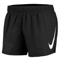 Nike Womens Swoosh Running Shorts Black XS, Black, rebel_hi-res