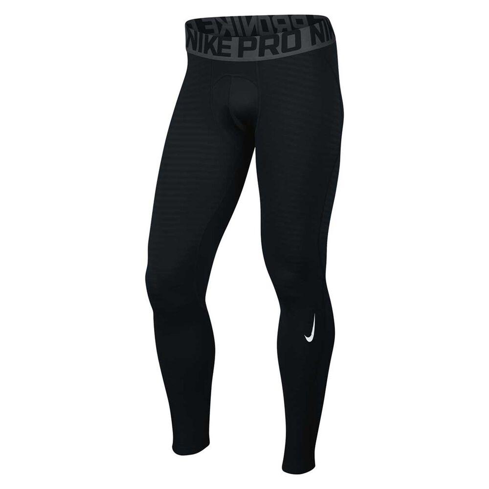 68d455187775f Nike Mens Pro Warm Training Tights Black / Grey XXL, Black / Grey, rebel_hi