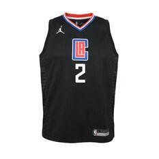 Nike Los Angeles Clippers Kawhi Leonard 2020/21 Kids Statement Swingman Jersey Black S, Black, rebel_hi-res