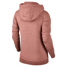 Nike Sportswear Womens Funnel Fleece Hoodie Pink XS, Pink, rebel_hi-res