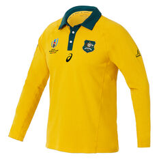 Wallabies 2019 Mens Rugby World Cup Traditional Long Sleeve Jersey Gold S, Gold, rebel_hi-res