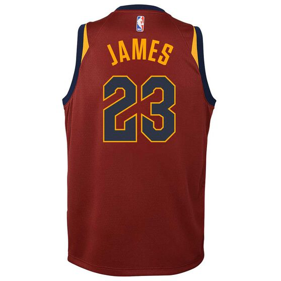 90feaa2d141 Nike Cleveland Cavaliers LeBron James 2018 Kids Swingman Jersey Team Red S