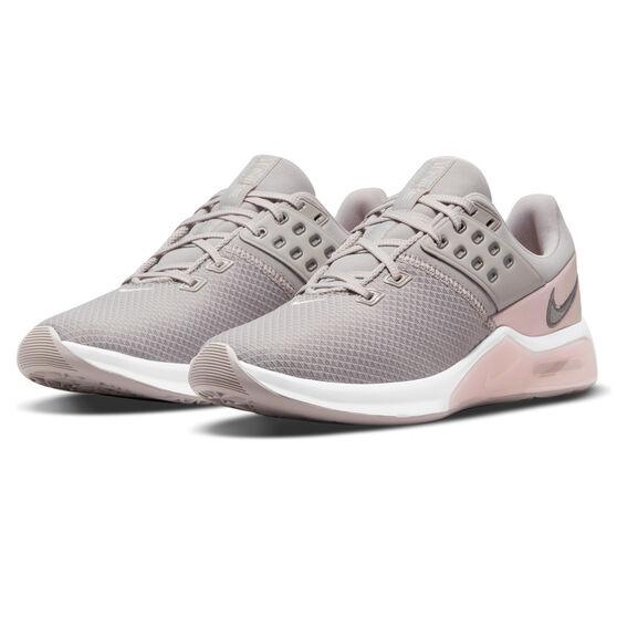 Nike Air Max Bella TR 4 Womens Training Shoes, Grey/Pink, rebel_hi-res
