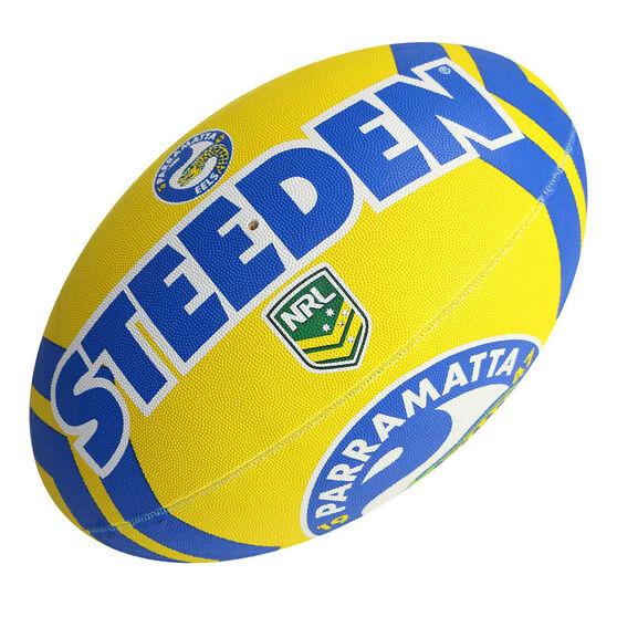 Steeden NRL Parramatta Eels Rugby League Ball, , rebel_hi-res