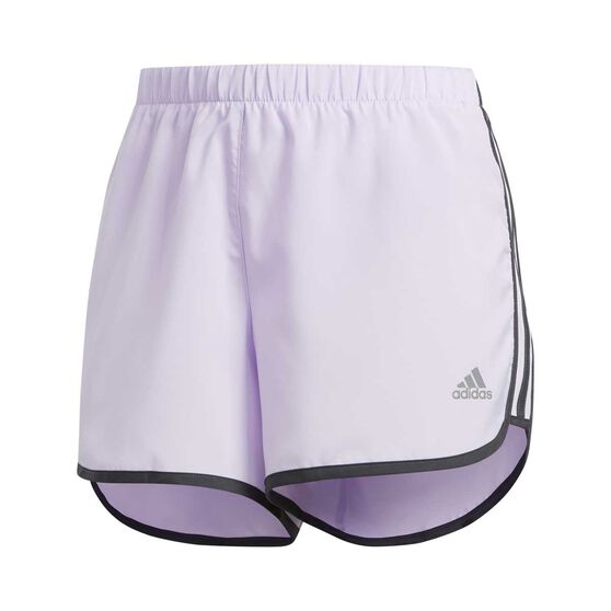 adidas Womens Marathon 20 Running Shorts, Purple, rebel_hi-res