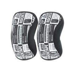 RockTape 5mm Assassins Manifesto Knee Sleeve Black / White S, Black / White, rebel_hi-res