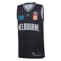 Melbourne United 2019/20 Kids Home Jersey Navy 8, Navy, rebel_hi-res
