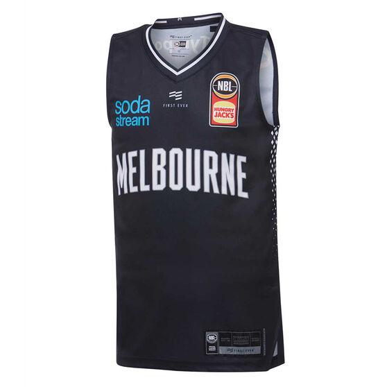 Melbourne United 2019/20 Kids Home Jersey Navy 8, Navy, rebel_hi-res