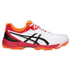 Asics GEL Peake 5 Mens Cricket Shoes White US 8, White, rebel_hi-res