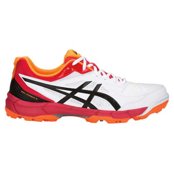 Asics GEL Peake 5 Mens Cricket Shoes White US 8.5, White, rebel_hi-res