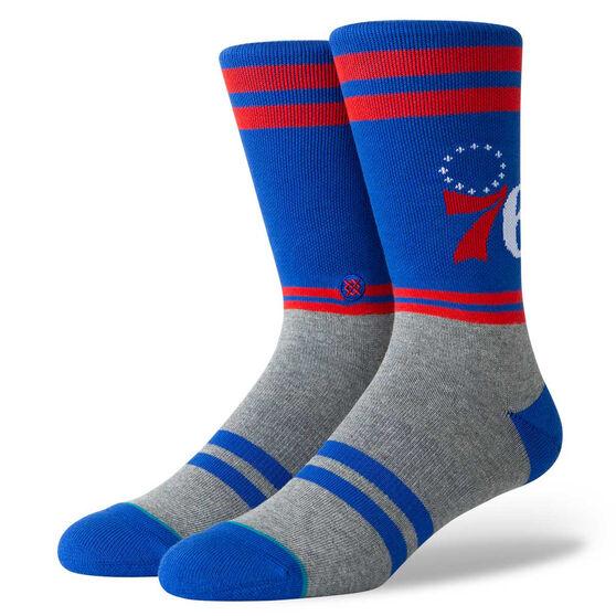 Stance Mens Philadelphia 76ers City Gym Socks Blue / Red M, Blue / Red, rebel_hi-res