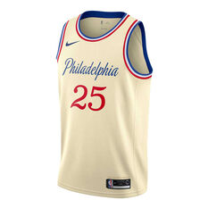 Nike Philadelphia 76ers Ben Simmons 2019/20 Mens City Edition Swingman Jersey Beige S, Beige, rebel_hi-res