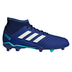 adidas Predator 18.3 Kids Football Boots Navy / Green US 11, Navy / Green, rebel_hi-res