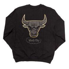Chicago Bulls Mens 2019 Presto Crew Sweat Black S, Black, rebel_hi-res