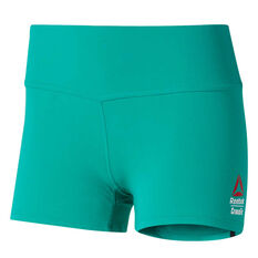 Reebok Womens CrossFit Chase Bootie Shorts Emerald XS, Emerald, rebel_hi-res